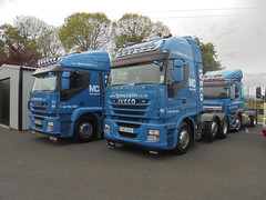 HRZ 4689 & UNZ 6554 - F P McCann Knockloughrim County Londonderry (Jonny1312) Tags: iveco ivecostralis gulladuff midulstertruckers londonderry lorry truck