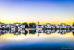 Foster City, California (MaybeSomeday.CA) Tags: fostercity california usa canal reflection river water lake sun sunset architecture homes realestate waterfront view sky blue yellowbeauty lifestyle quaint family life explore travel world love live peace tranquility nature outdoor