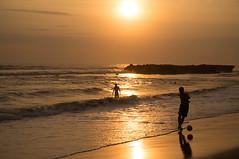 Soccer by the beach (Richy F/ Paris) Tags: shadow summer bali cloud holiday beach temple coconut kuta tanahlot seminyak nex6sony