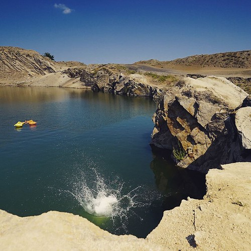 Iacobdeal is an anthropic lake, formed in a granite mountain part of the Hercinic Chain of Macin Mountains, Dobrogea, Romania. A good place to perform cliff-jumping and deep water solo. #travelbloggers #travelblogger #RoTravel #Romania #Dobrogea #mountain