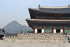 Geunjeongjeon Hall and Bukhansan Mountain (eaglelam89) Tags: travel asia korea seoul