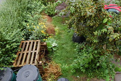 Looking Down on the Front Garden - August 2015 (basswulf) Tags: uk england garden oxford compost frontgarden compostbin normcres d401855mmf3556glenstaggedunmodifiedpermissionslicencec201508262015083008x2000lookingdownonthegarden
