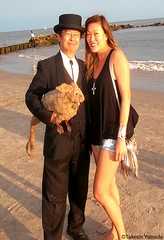Dr. Takeshi Yamada and Seara (sea rabbit) with the mermaid at the Coney Island Beach in Brooklyn, NY on August 8, 2015. 20150808 100_9142=1020pC-1 (searabbits23) Tags: ny newyork sexy celebrity art hat fashion animal brooklyn painting asian coneyisland japanese star costume tv google king artist dragon god cosplay manhattan wildlife famous gothic goth performance pop taxidermy cnn tuxedo bikini tophat unitednations playboy entertainer takeshi samurai genius mermaid amc johnnydepp mardigras salvadordali unicorn billclinton billgates aol vangogh curiosities sideshow jeffkoons globalwarming takashimurakami pablopicasso steampunk yamada damienhirst cryptozoology freakshow barackobama seara immortalized takeshiyamada museumofworldwonders roguetaxidermy searabbit ladygaga climategate minnesotaassociationofroguetaxidermists