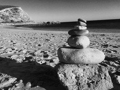 Beach life (coupechamp) Tags: beach portugal sand rocks waves rocksculpture