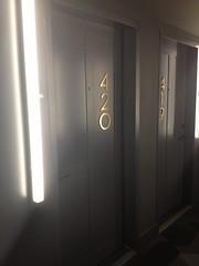 Dazzler Hotel Doors (esmereldes) Tags: nyc newyorkcity newyork brooklyn hotel dazzler uploaded:by=flickrmobile flickriosapp:filter=nofilter wakuwakunyc
