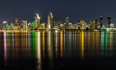 Across the Spectrum (quicklyslowly) Tags: longexposure colors reflections sandiego fineartphotography sandiegoskyline sonya7 1835mmsony