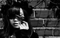 And I'll be gone gone tonight. The story of my life. I take her home. I drive all night to keep her warm. In time. The story of my life. (Sammy Pham) Tags: bw white black girl beauty dark lost photography noir vietnamese gothic emo creepy devil conceptual