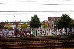 graffiti (wojofoto) Tags: holland graffiti nederland netherland bonk trackside spoorweg karm wolfgangjosten wojofoto