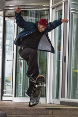 Skateboard trick 2 (jer1961) Tags: toronto flip skateboard skateboarder metrohall skateboardtrick fliptrick