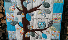 PATCH5034-Quilt-Woodland-baby-26-10-2015 (Silvia LGD (Little Green Doll)) Tags: baby woodland quilt handmade crafts bebé bebe patchwork fabrics telas colcha babyquilt hechoamano colchaparabebé woodlandbabyquilt