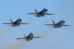 Blue Angels taking off from Oakland Airport (taggartgorman) Tags: blueangels fleetweek fa18 oaklandairport