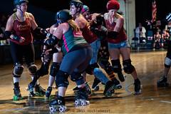 rebels_vs_panic_L3506665 1 (nocklebeast) Tags: ca usa santacruz rollerderby rollergirls zombies vampires skates organicpanic santacruzderbygirls redwoodrebels