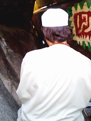 "A pilgrim prays in the cave at mount hira known as jabal noor "" mountain of light"" (brooklynyte4ever) Tags: cave angelgabriel makkah prophetmuhammad mounthira jabalnoor"