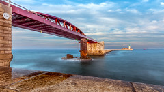 Bridge to nowhere .. (kevinbrincat) Tags: bridge seascape nowhere malta serene valletta