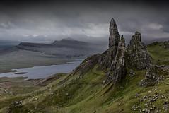 The Stacks of Storr (Grant Morris) Tags: skye canon landscape scotland rocks isleofskye hills hillside greysky rockstack 24105 greyclouds oldmanofstorr storr grantmorris grantmorrisphotography