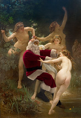 Bouguereau-Nymphs&Satyr (Ed Wheeler photo) Tags: santa christmas selfportrait art painting santaclassics