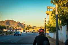 Cycling as the sun comes up in Guaymas.