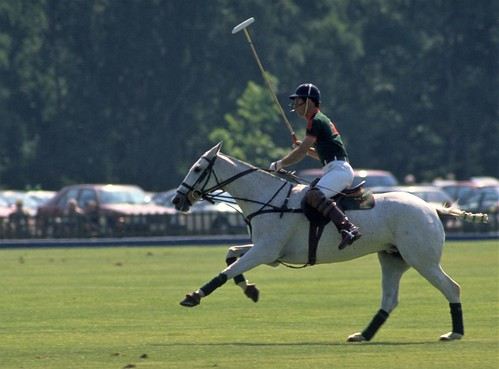 Prince Charles Playing Polo at Windsor