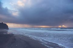 stormy sunset (j j miller) Tags: ocean california ca sunset storm reflection beach rain clouds coast dusk lowtide cloudporn hwy1 californiacoast pomponio statebeach pomponiostatebeach