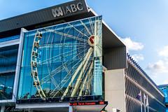 Reflection of Brisbane Wheel (figatz) Tags: sky reflection wheel nikon australia brisbane southbank queensland ferriswheel abc 30mm sigmalens abcaustralia nikonphotography brisbanewheel