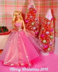 Merry Christmas 2015 (Bridget_John316) Tags: christmas pink trees beauty barbie hobby diamond lobby april merry miss diorama steffie birthstone