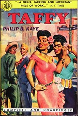 Avon 377 (1951). Philip B. Kaye is the pen name for Reverend Alger Leroy Adams and this is the author's first book. Cover art by Ray Johnson (lhboudreau) Tags: book books bookart vintagepaperbacks vintagepaperback paperback paperbacks paperbackbooks paperbackart coverart vintagepaperbackart avon avonbook avonbooks avon377 1951 paperbackbook blackamericans africanamericans africanamerican blackamerican blacks blackliterature negro philipbkaye kaye philipkaye rayjohnson algerleroyadams reverendalgerleroyadams firstbook authorsfirstbook taffy gang juveniledelinquents juveniledelinquent jd slum slums kid kids delinquency avonbook377 lenoxavenue lenoxave gga goodgirlart juveniledelinquency race