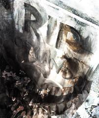 "R.I.P. (""Cisco Kid"") Tags: photoshop tombstone bw blackandwhite skull teeth"