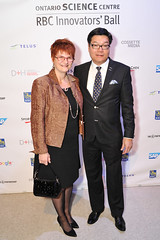 Brian Chu, Chair, Board of Trustees, Ontario Science Centre and Francine Chu (The Ontario Science Centre) Tags: 2016 rbc innovators ball