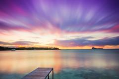 Walkway to Sunset (fresch-energy) Tags: mauritius insel island sonnenuntergang sunset sundown wolken clouds meer sea seascape landschaft landscape natur nature outdoor wasser water steg land sony a77