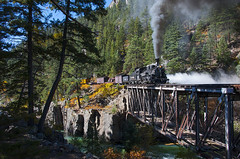 Action at High Bridge (joemcmillan118) Tags: colorado tacoma highbridge animasriver dsng durangosilverton photocharter k28 473 steamlocomotive