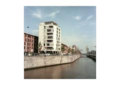 Canal (MonFolio (chr. Bernard)) Tags: hasselblad500cm portra160 bruxelles molenbeek