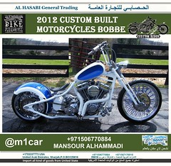 "2012 Custom Built Motorcycles Bobbe The Dropseat Bobber is what put Rods & Rides on the map. This machine was built for not only speed and function but for the flowing lines as you can see. The massive 23"" front tire and the outrageous 330mm rear gives th (mansouralhammadi) Tags: abudhabi  dubai    fromm1carusatoworld  qatar rasalkhaimah  kuwait sharjah abudhabicars bahrain uaecars ummalqaywayn alain uae sharjahcars  gcc  ksa ajman unitearabemirates fujairah  dubaicars"