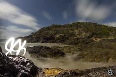 Clouds and ocean (MISHKA Vision - Light Graffer) Tags: australie australia lightpainting lightgraff longexposure expositionlongue nightphotography roadtrip