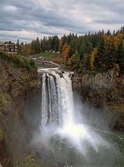 Autumn Snoqualmie Falls (mistymisschristie) Tags: snoqualmiefalls autumn season fall brooding melancholy cloudy washington mistymisschristie chrisandersonphotography2016