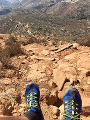 On the Edge of a Wooden Step (Blue Rave) Tags: iphonephotography iphoneography sandiego nature trail missiontrailsregionalpark fortunamountaintrail steps path pathway hike hiking stairs staircase 2016 self myself ego me bloke dude guy male mate people selfie blue thecolorblue color colour blueshoes hikingshoes shoes california ca