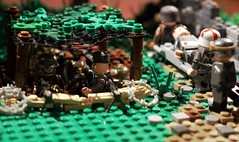 "Behind the lines - ""Out of commission"" (CharlieCompanyProductions) Tags: lego wwii german wehrmacht brickarms brickmania bunker 1944"