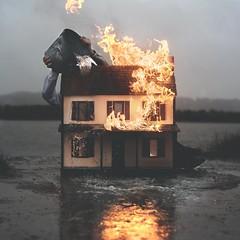 SVENTUR_A (thewickedend - Nicolas Bruno) Tags: nicolas bruno surreal surrealism 365 dark art conceptual fire water evening nightmare horror sleep paralysis sleepparalysis nicolasbruno fog house dollhouse