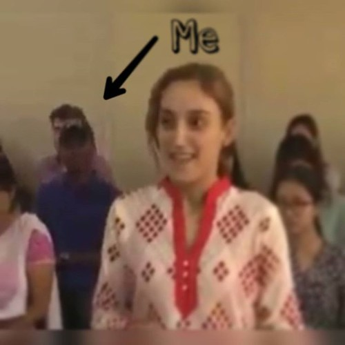 Look!!! its me on TV 🇹🇻,  lol!!! ... LOCAL TELEVISION station came to Interview one of the FOREIGN girls in SCHOOL 🏫 here in India ...She was talking about Karva Chauth