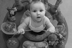 Scarlett (Hchilders2018) Tags: baby symmetrical surprised toys blackandwhite bw hands rolls scarlett happy