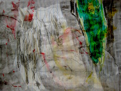 Time Of The Faun (giveawayboy) Tags: pencil crayon drawing sketch art acrylic paint painting fch tampa artist giveawayboy billrogers faun manonagreenhill wildman lost wandering astreet