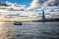 Liberty Island (yaznatasha) Tags: newyork nyc newyorkcity usa america canon canon5dmarkiii lightroom outdoors outdoor november winter christmas sunset statueofliberty libertyisland