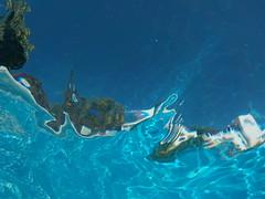 underwater view (curly_em) Tags: loscristianos tenerife canaryislands swimmingpool underwater blue water sunshine bluesky