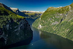 The Geiranger Fjord, Sunnmre, Mre og Romsdal, Norway (North Face) Tags: norwegen norway norge fjord fjorden mountains water boat cliffs waterfalls nature landscape summer landschaft canon eos 5d mark iii 5d3 24105l unesco world heritage site sommer natur outdoor sky