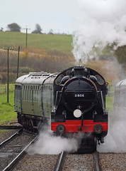 Head-on (Treflyn) Tags: southern railways u class 260 31806 corfe castle station swanage railway timeline events photo charter