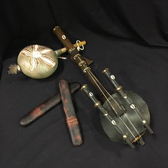 MUSIC:  Ethnic musical instruments.