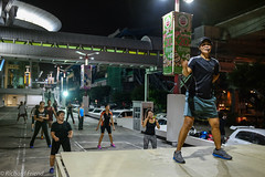 Bangkok Night Aerobics (Rich Friend) Tags: green night bangkok bangkokstreet street streetphotography streetlife aerobics exercise sport fitness people asia thailand