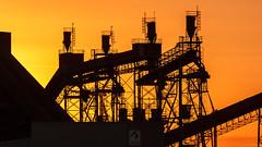 Sunset ADM (Leen Poldervaart) Tags: adm calandkanaal canon600d canonef70200mmf4lisusm europoort portofrotterdam rotterdam colors orange oranje sunset tegenlicht zonsondergang
