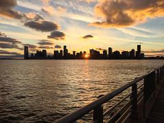Jersey City (Tim Gupta) Tags: nyc newyorkcity manhattan newyork unitedstates hudson river newjersey jerseycity skyline sunset iphone iphoneography