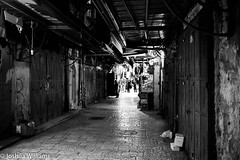 DSCF9662 (Joshua Williams' Photography) Tags: jerusalem israel bw night oldcity