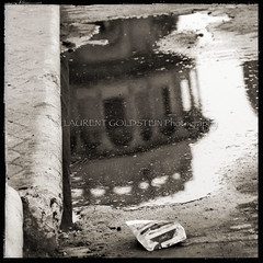 The World In The Puddle (designldg) Tags: india benares benaras varanasi kashi uttarpradesh ganges ganga reflection puddle water contrast composition blackwhite bn bnw blackandwhite ghat architecture scindiaghat palace laurentgoldstein photography panasonicdmcfz200 atmosphere ethereal dream daydream nostalgia urban sepia square naturallight culture texture mystery heritage soul oldcity theoldestlivingcityintheworld imagination timeless dreamworld conceptual